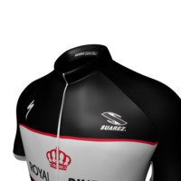 3d model cycling jersey maillot body