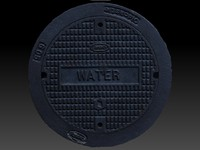 3d scan water utility cover model