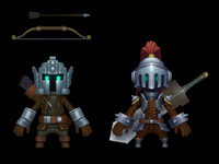 3ds max cartoon knight striker