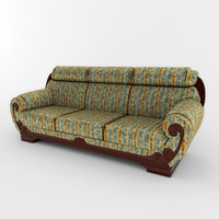 3d 3ds classic sofa 01