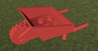 lego wheelbarrow 3d c4d