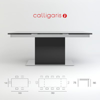 Table Park Glass CS/4039-GR Calligaris