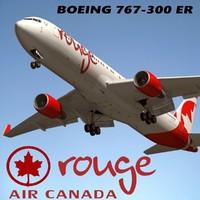 boeing 767-300 air canada 3d max