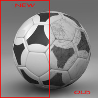 ball soccer black 3d c4d
