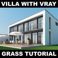 house grass garden 3d model