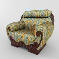 classic chair 01 3d 3ds
