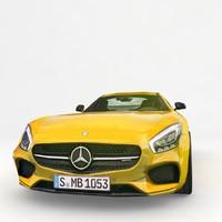 3d benz gt amg 2016 model