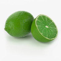 3d realistic lime fruit real