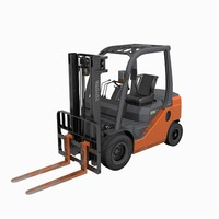 3d forklift truck toyota model