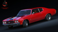 chevrolet chevelle ss ls6 3d max
