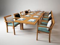 dining set ixit 360 3d model
