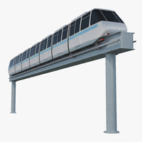3d model of monorail rail