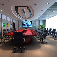 3ds max meeting room