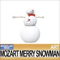 mozart merry snowman 3d model