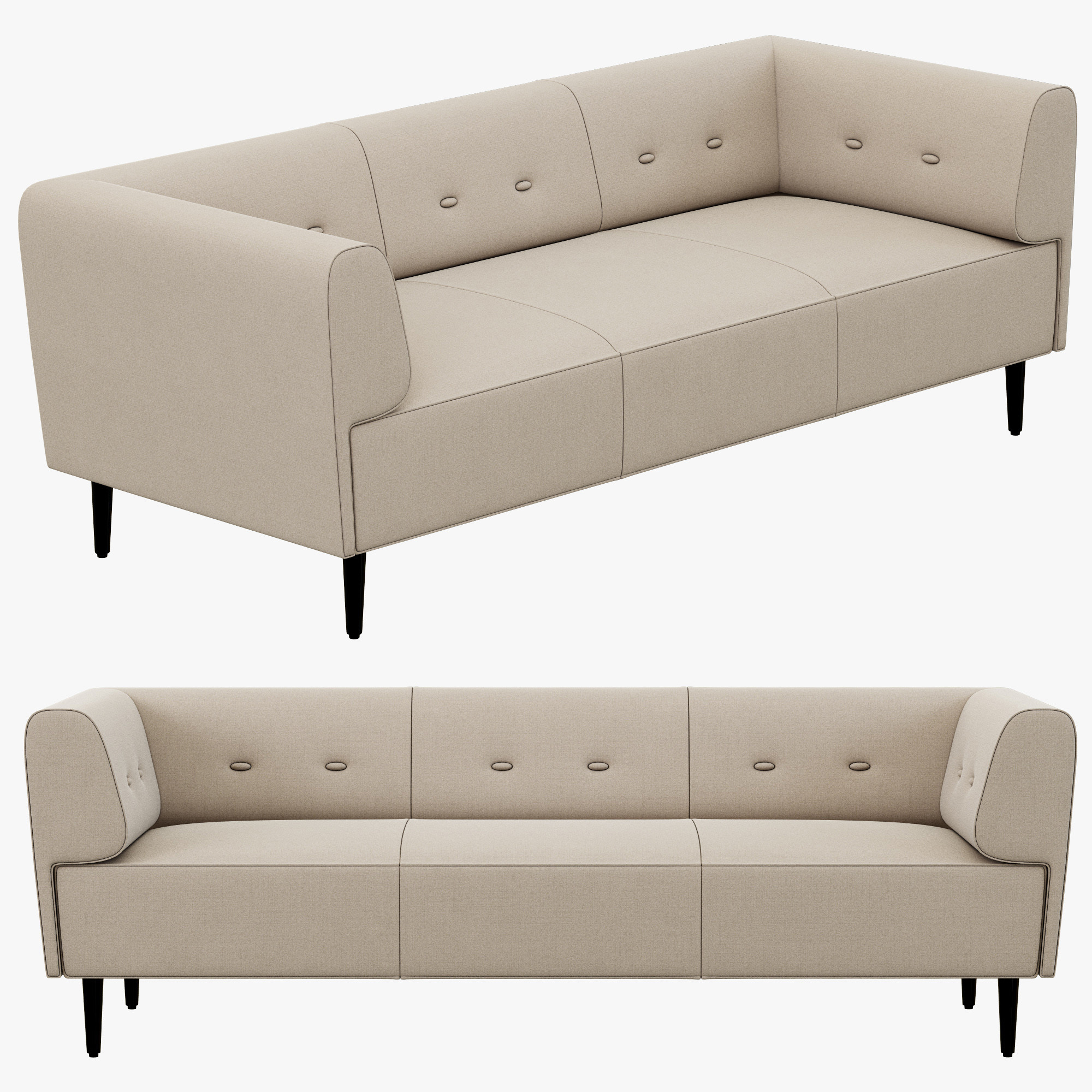 3d boconcept philly sofa. Black Bedroom Furniture Sets. Home Design Ideas