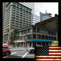 nyc buildings street 3d max