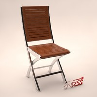 3d model chair bali