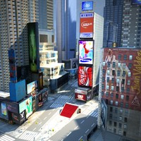 new york -1 square 3d model