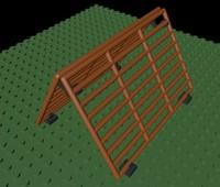 3d model lego climbing frame