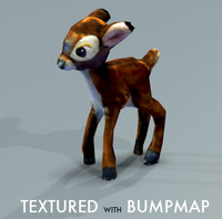 Stuffed Deer textured normalmap