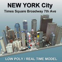 3d new york city square