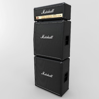 3d 3ds marshall gsm2000 guitar stack