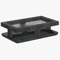 modern coffee table gray 3d 3ds