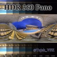HDR 360 Pano Olympic swim stadium01 Maria Lenk
