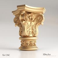classic capitals 3d max