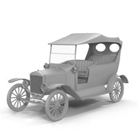 antique sedan 3d model