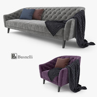 busnelli amouage sofa chair 3d max