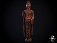 3d model oriental statue