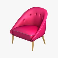 chair modern finished 3d model