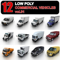 Low Poly Commercial Vehicles vol.1