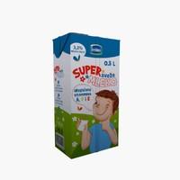 3d model milk tetra pak