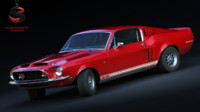 shelby gt500 kr 428 3d max
