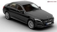 3d mercedes c class 2015 model