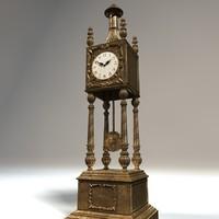 pendulum clock c4d