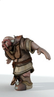 3d model of dwarf rigged