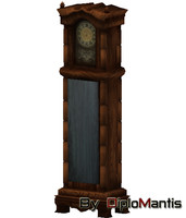 traditional floor clock 3ds