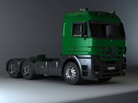 3d model mercedes-benz actros