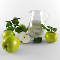 life apples 3d model