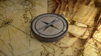 old compass 3d model