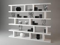 3d model forma mentis bookshelf visionnaire