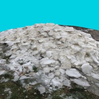 3d pile dirty snow