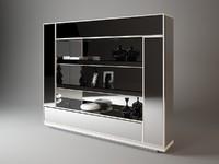 3d model bookshelf visionnaire