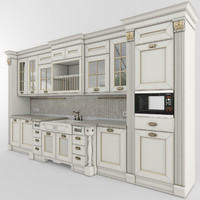 kitchen aster opera 01 3d model