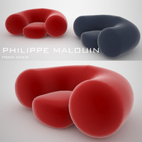 philippe malouin foam chair 3d model