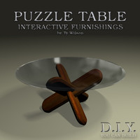 puzzle table 3d 3ds