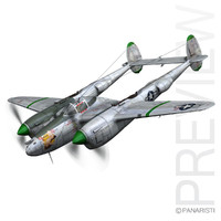 3ds lockheed lightning - glamour
